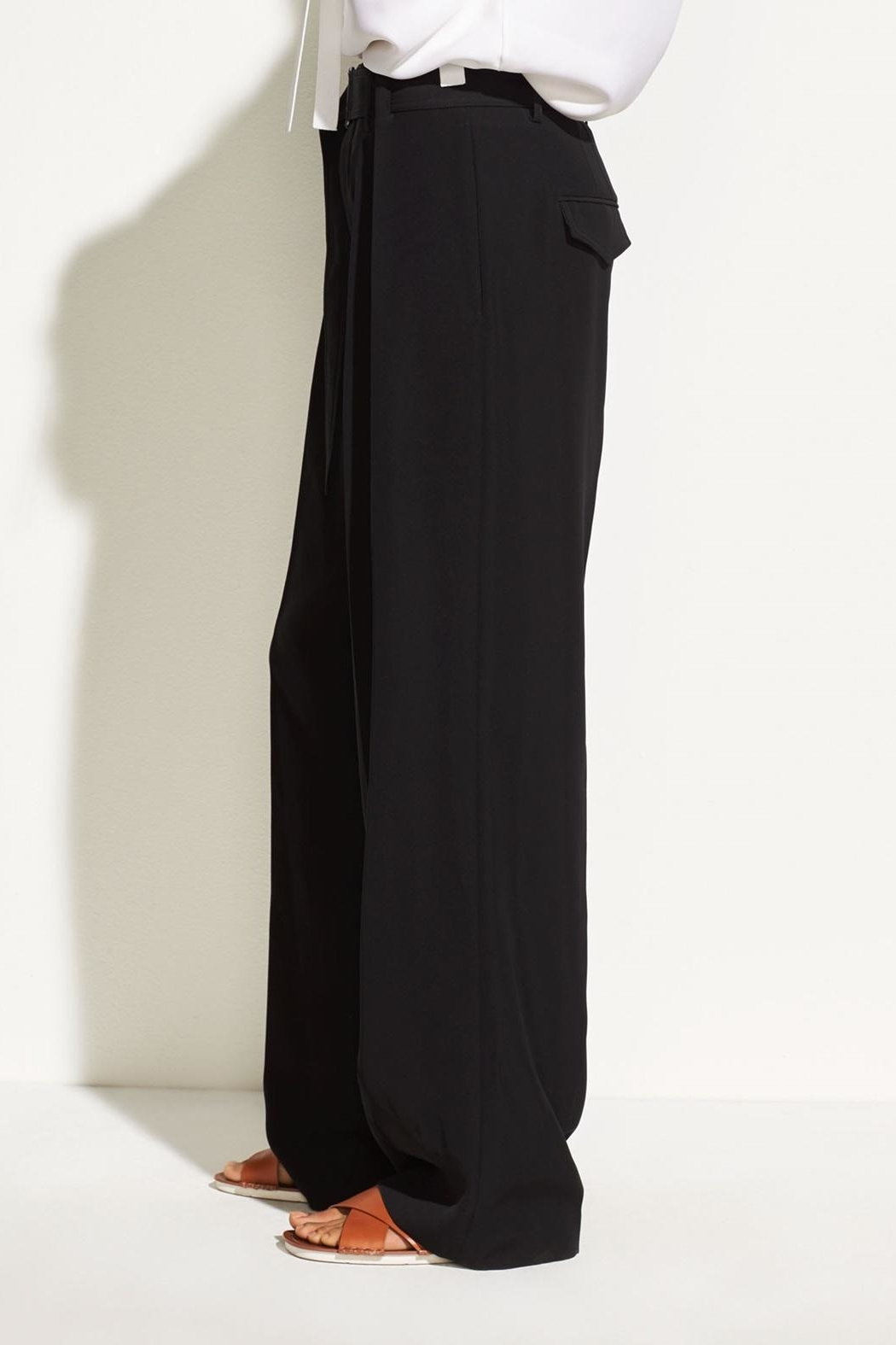 Vince Belted Wide Pants - Front Full Image