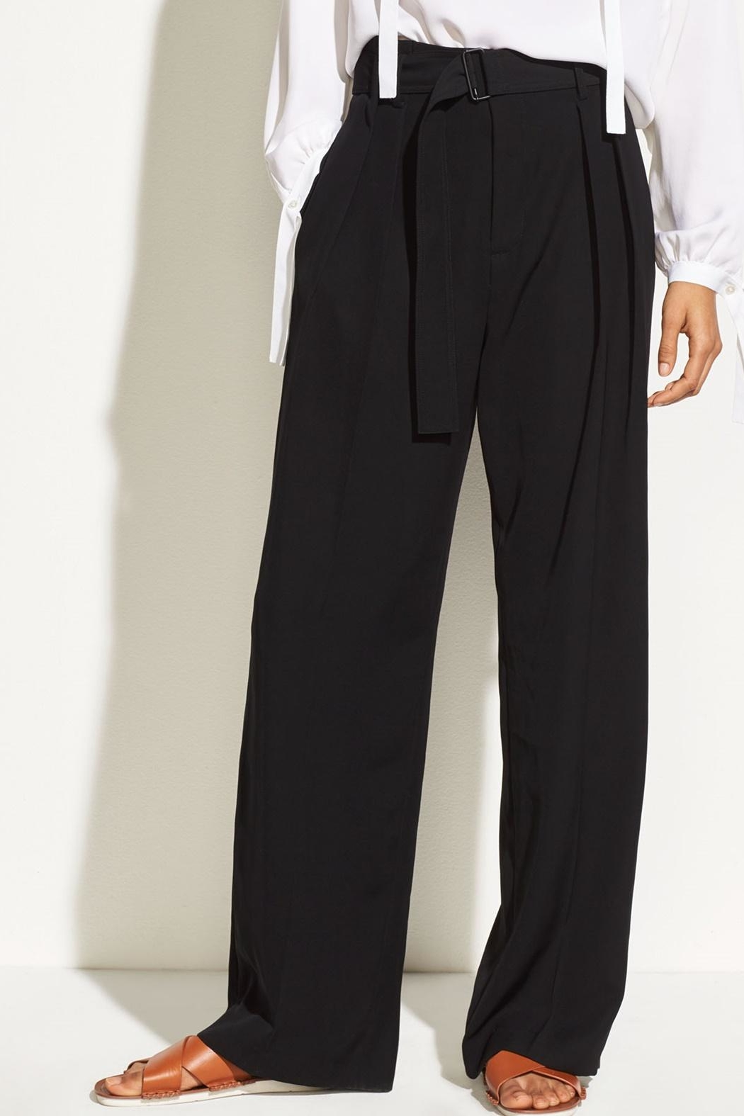Vince Belted Wide Pants - Main Image