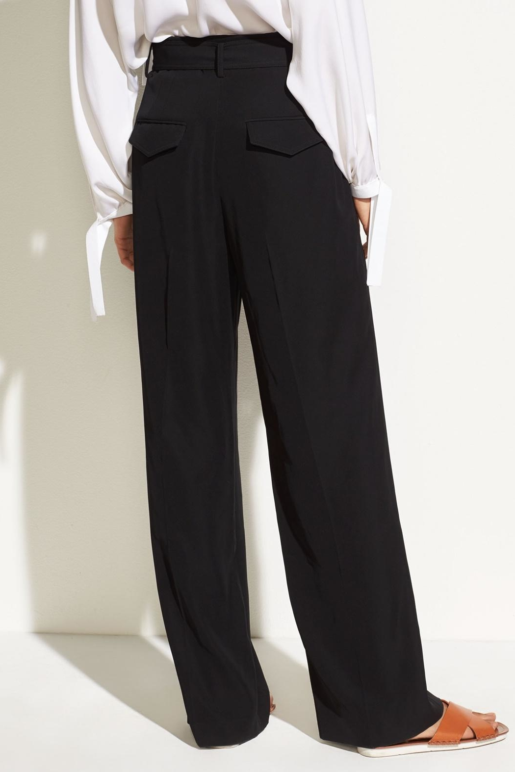 Vince Belted Wide Pants - Side Cropped Image