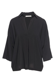 Vince Black Oversized Blouse - Front cropped