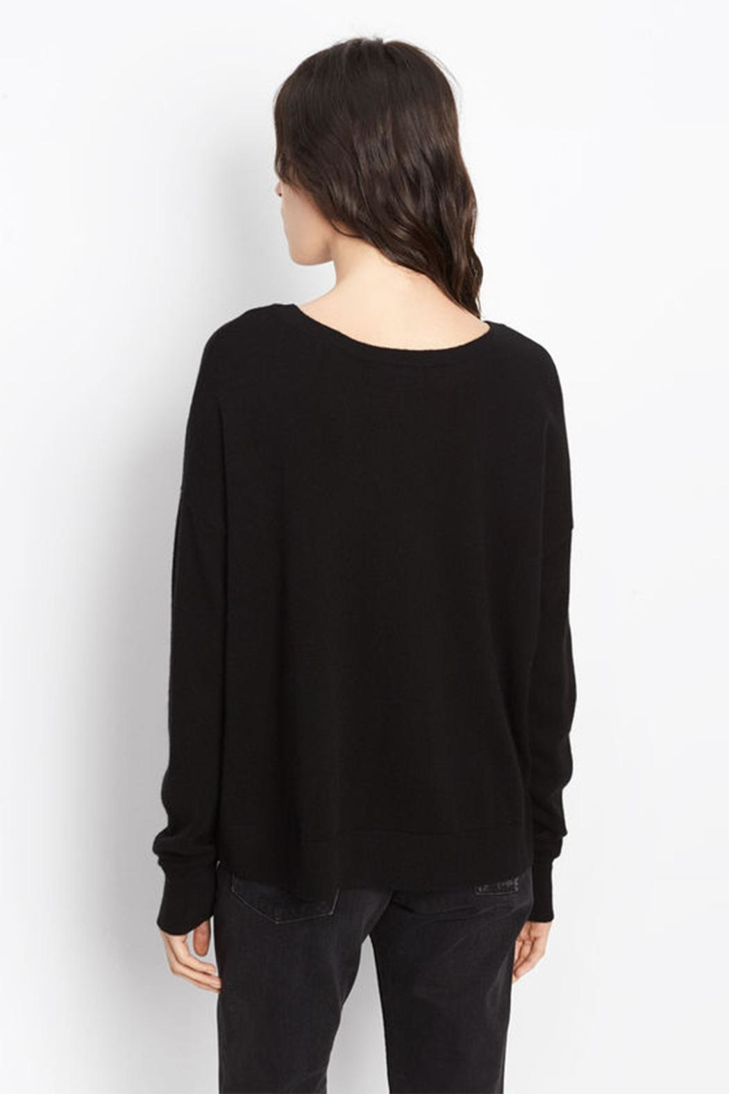 Vince Cashmere Crop Sweater - Front Full Image