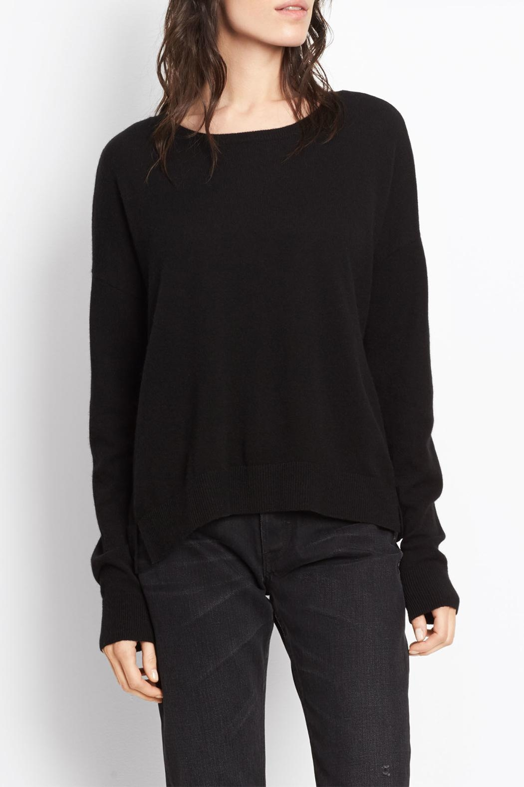 Vince Cashmere Crop Sweater - Main Image