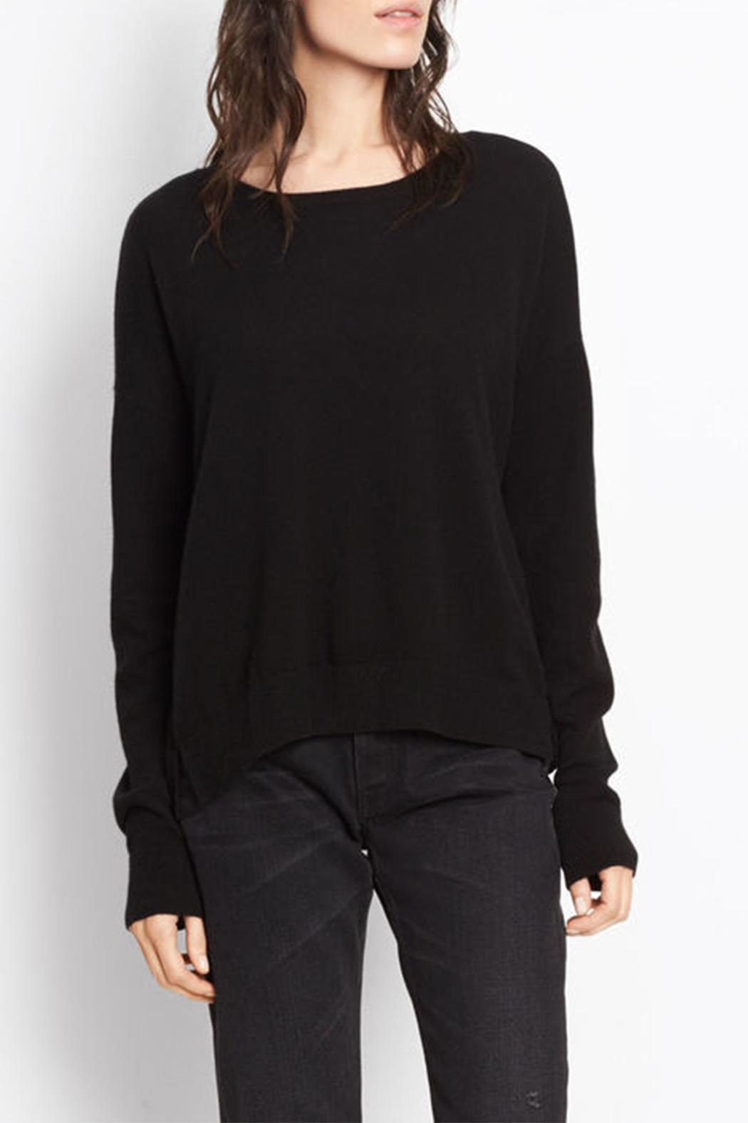 Vince Cashmere Crop Sweater - Side Cropped Image