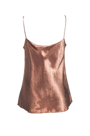 Vince Coffee Silk Camisole - Front full body