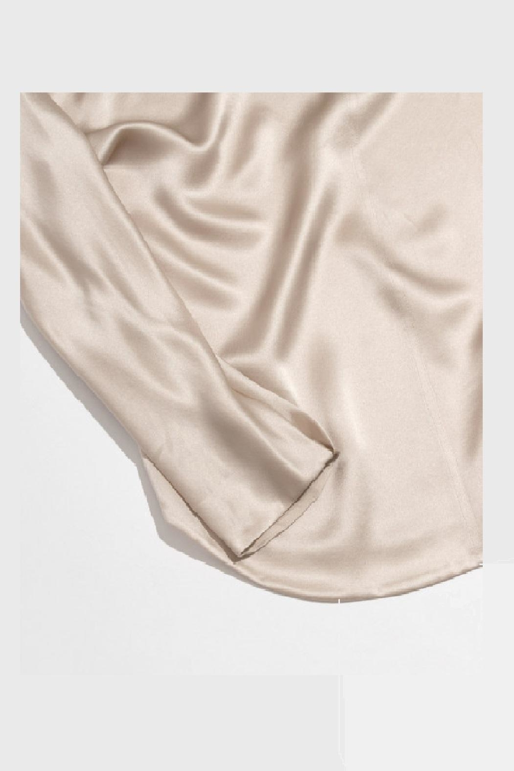 Vince Collar Band Blouse - Back Cropped Image
