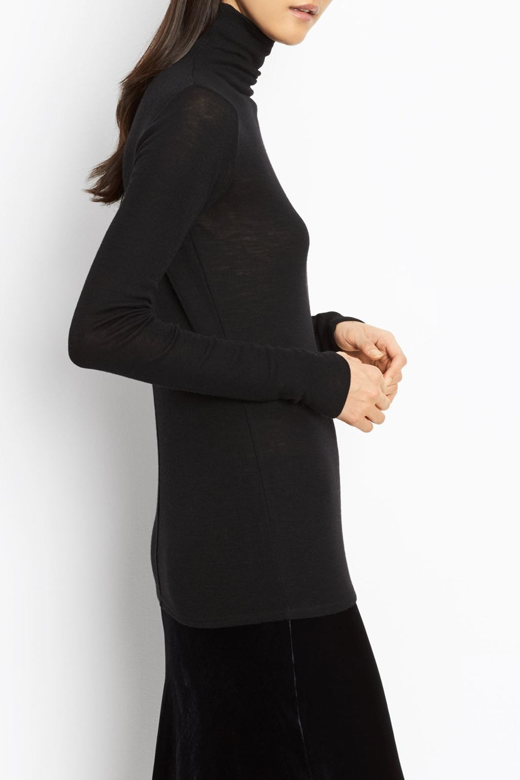 Vince Cowl Turtleneck Sweater - Side Cropped Image