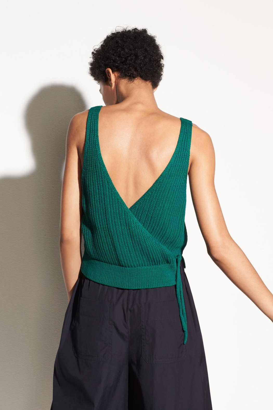 Vince Crossover Tank - Back Cropped Image
