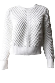 Vince Directional Rib Pullover - Product Mini Image
