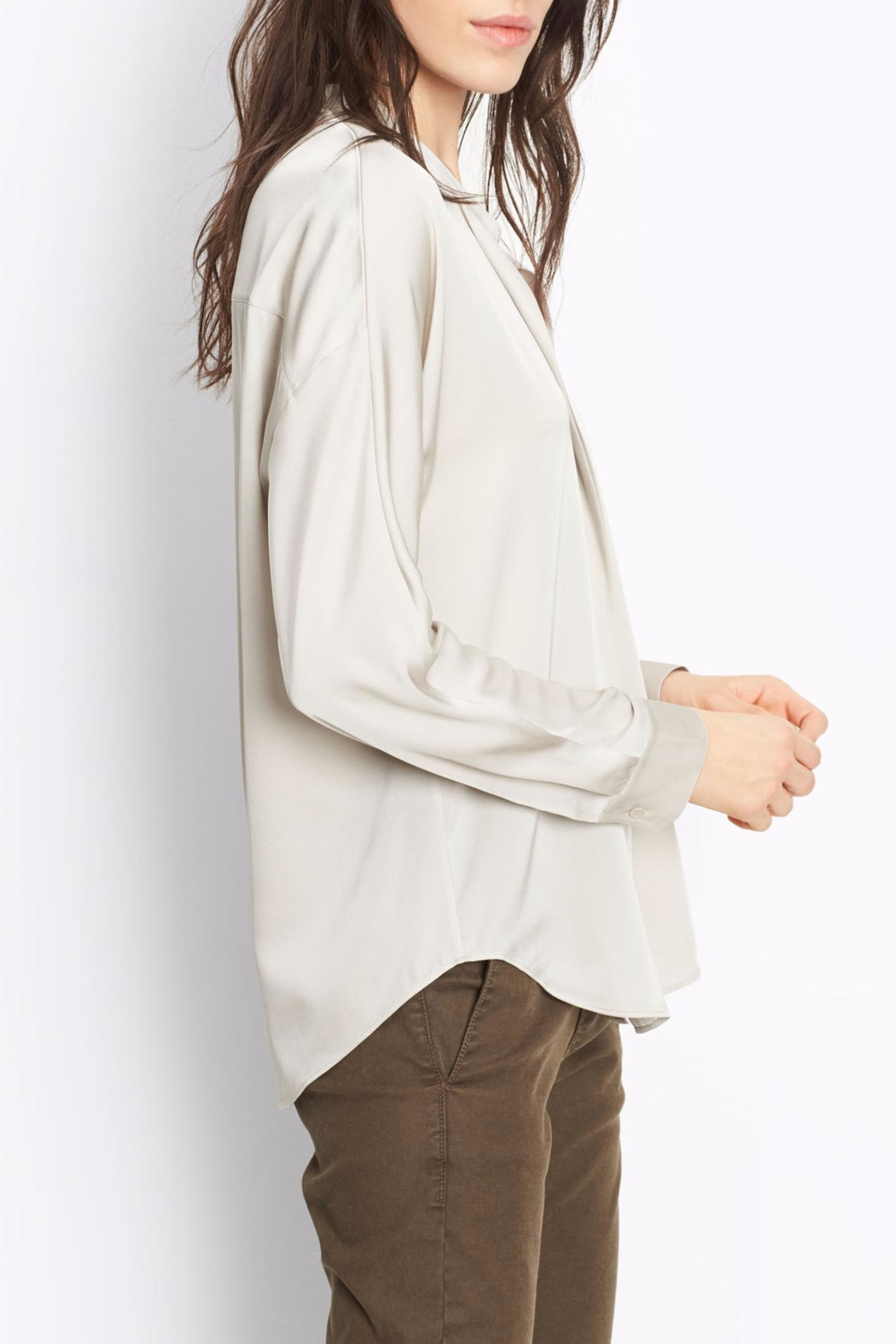 Vince Double Front Blouse - Side Cropped Image
