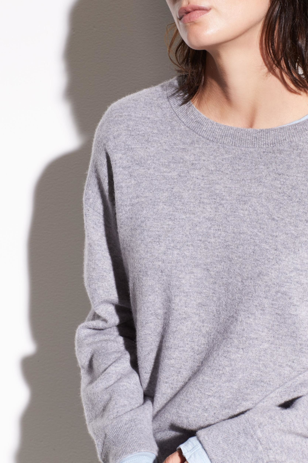 Vince Double Layer Cashmere - Side Cropped Image