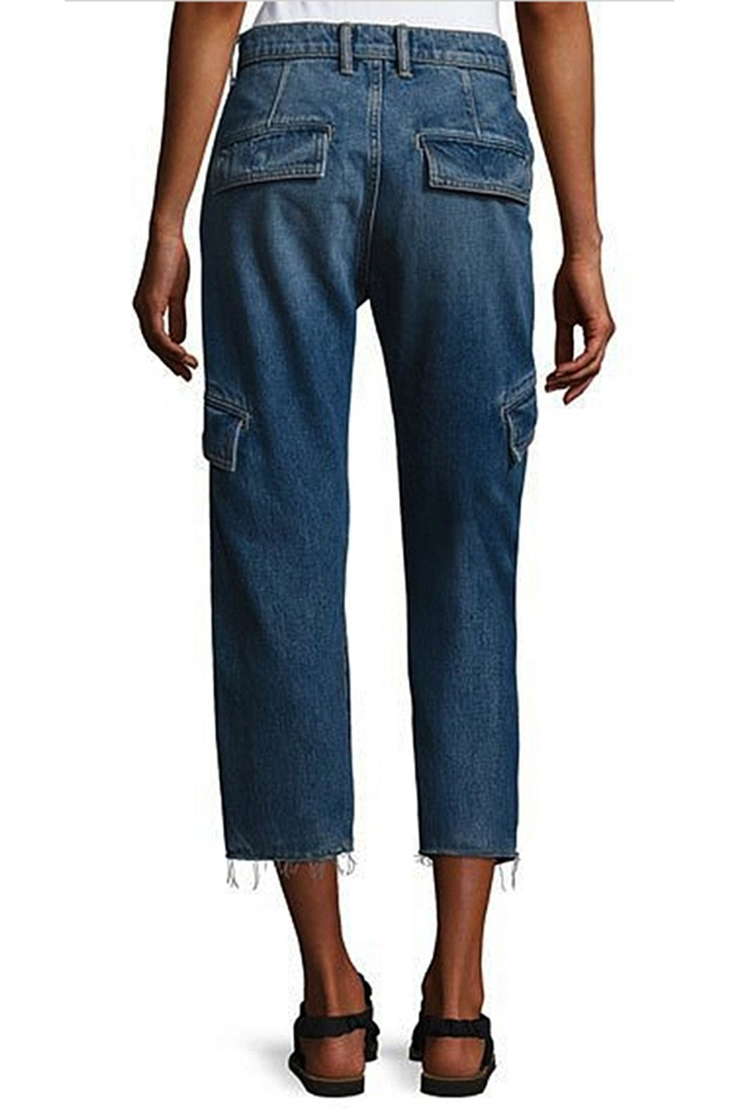 Vince Drop Slouch Cargo Jeans - Front Full Image