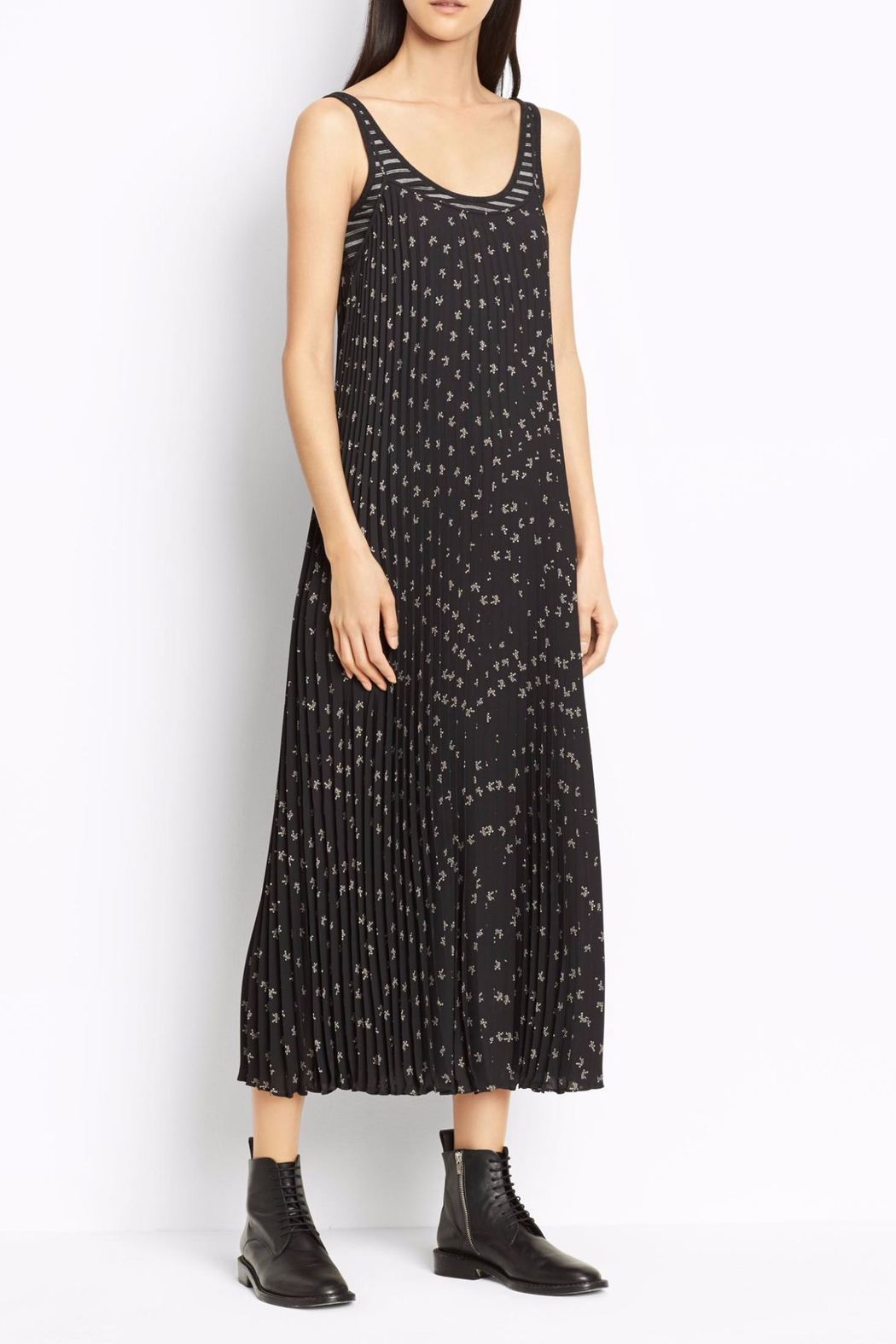 Vince Floral Pleated Dress - Main Image