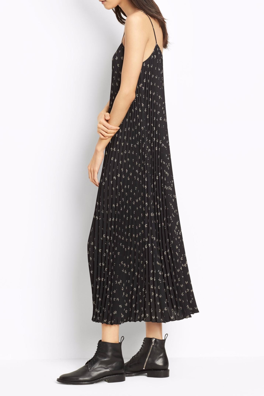 Vince Floral Pleated Dress - Front Full Image