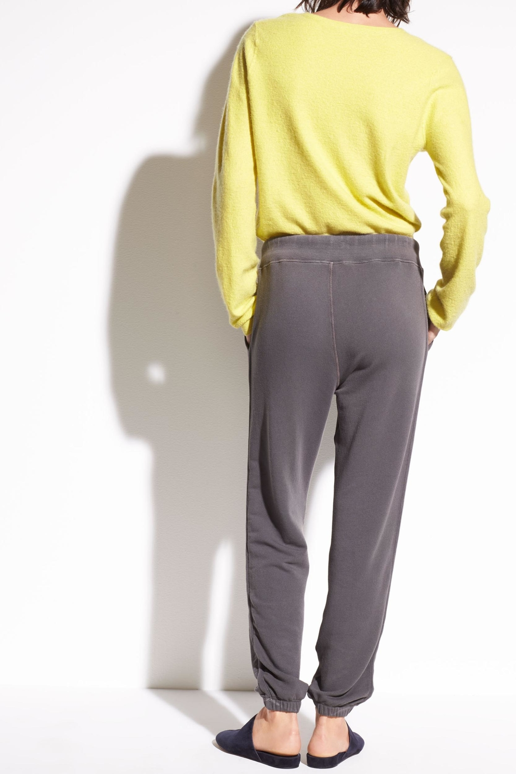 Vince French Terry Sweatpants - Back Cropped Image