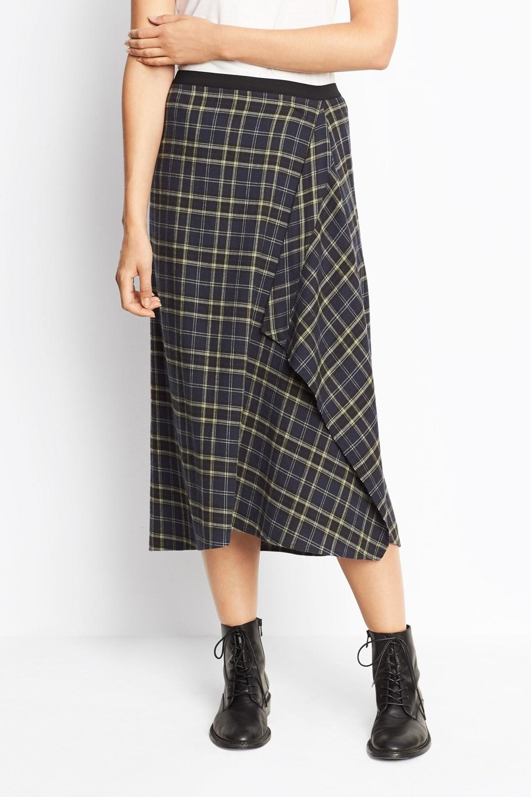 Vince Multi Plaid Skirt - Front Cropped Image
