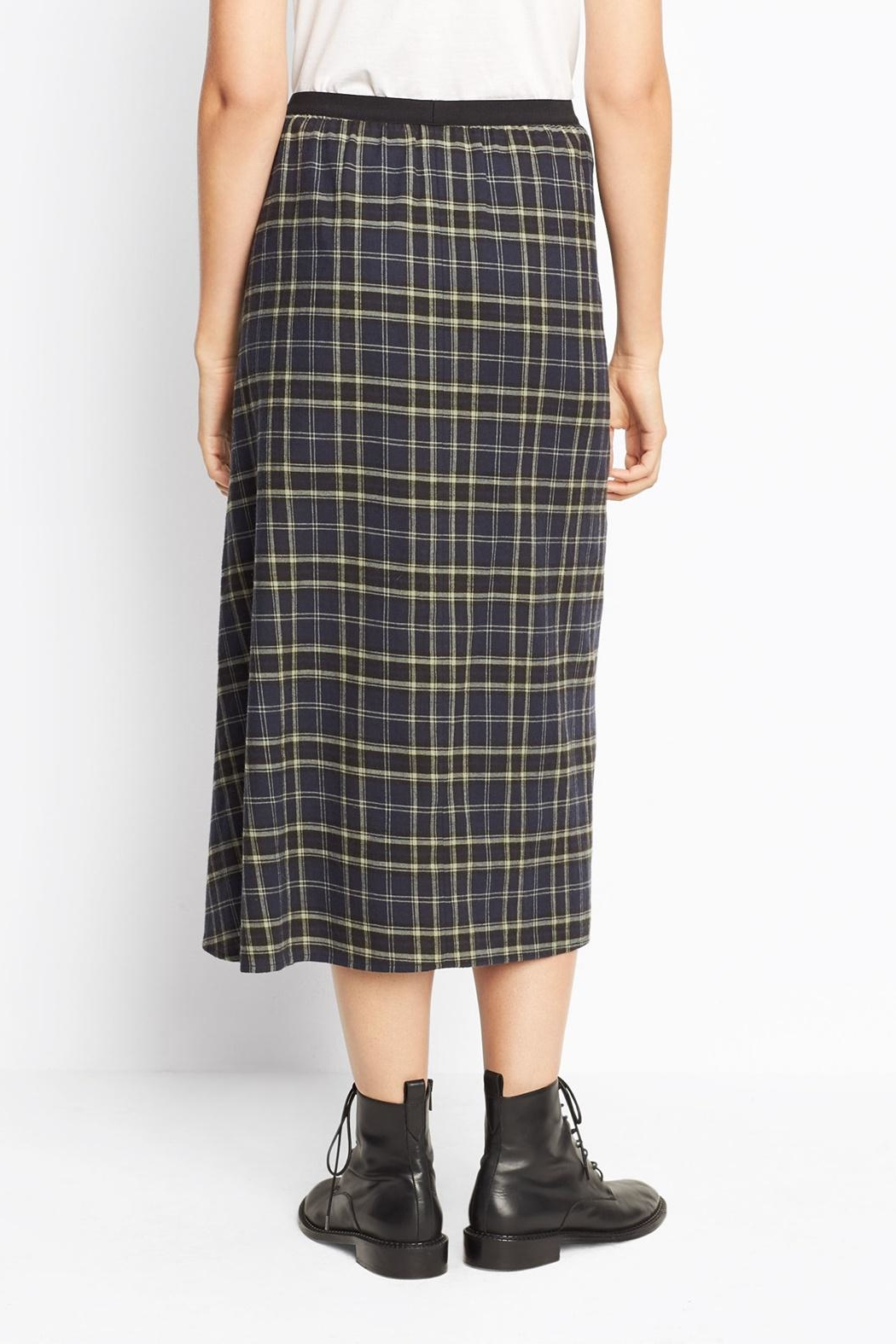 Vince Multi Plaid Skirt - Side Cropped Image