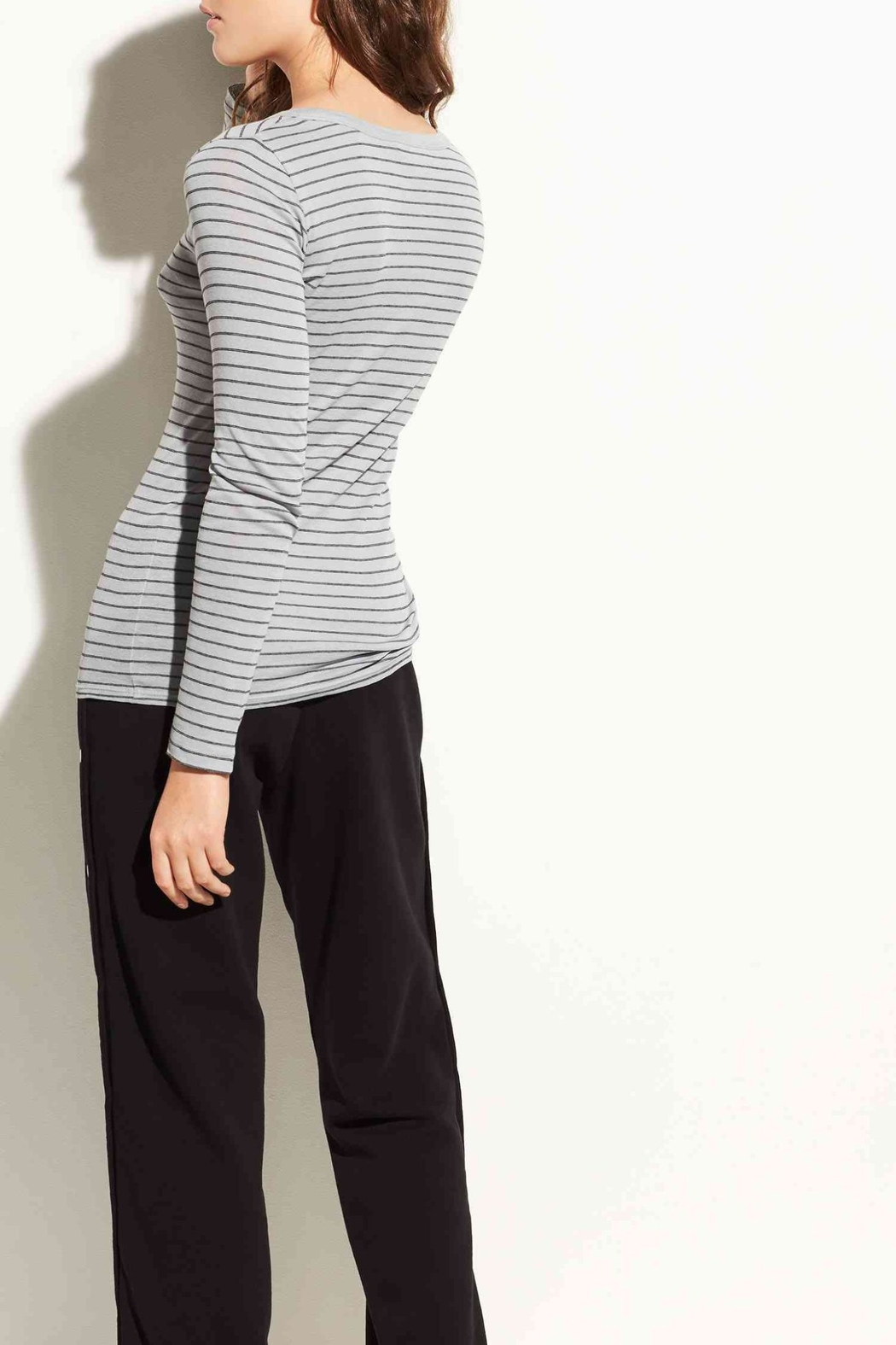 Vince Pinstriped Longsleeve Tee - Front Full Image