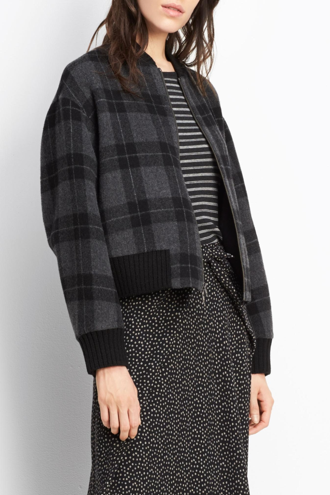 Vince Plaid Wool Bomber - Main Image
