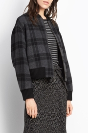 Vince Plaid Wool Bomber - Front cropped