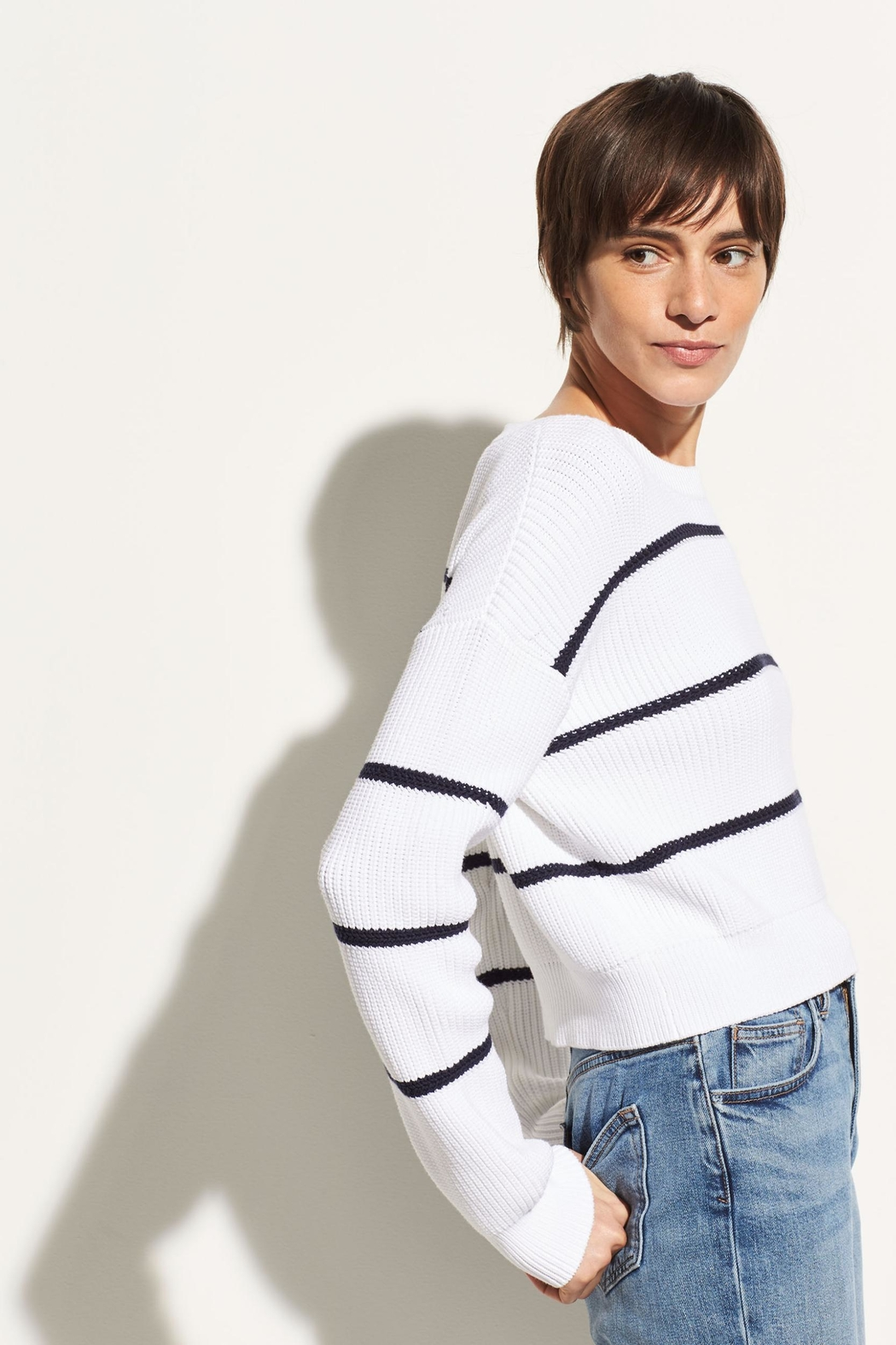 Vince Racked Rib Sweater - Front Full Image