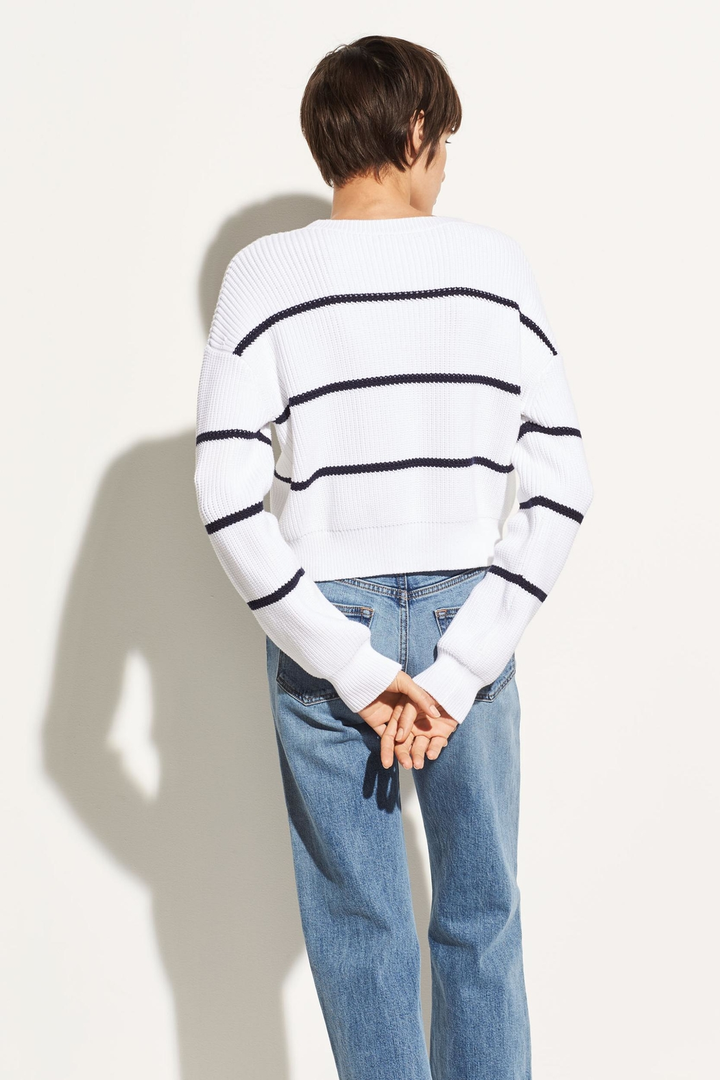 Vince Racked Rib Sweater - Back Cropped Image