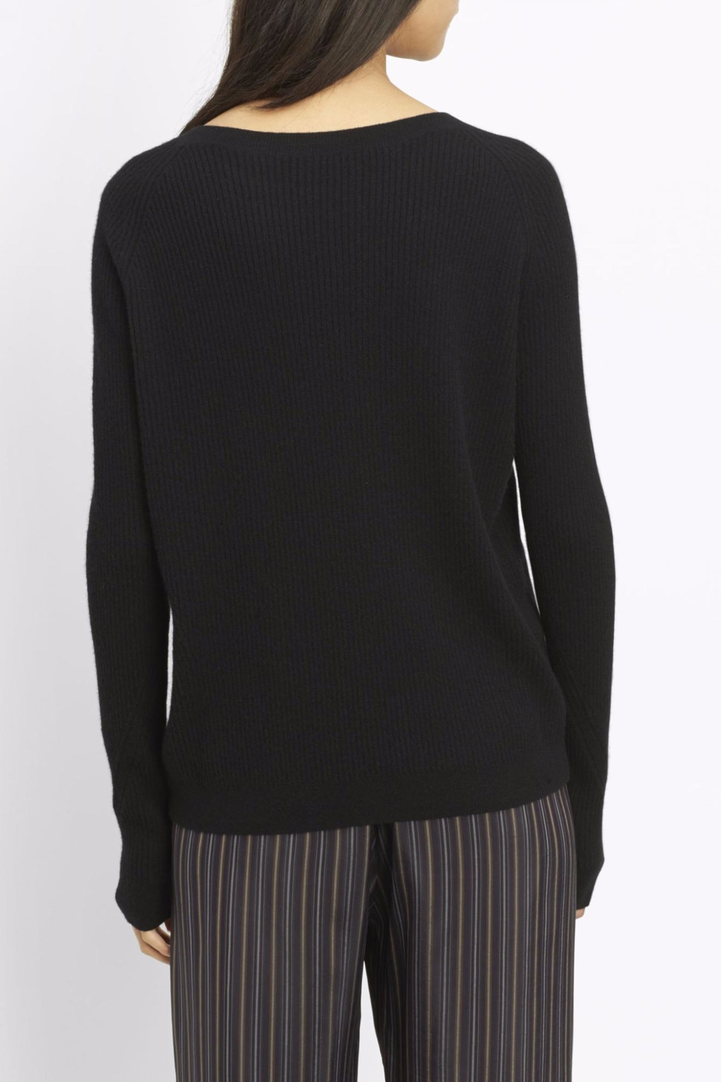 Vince Ribbed Raglan Sweater - Front Full Image
