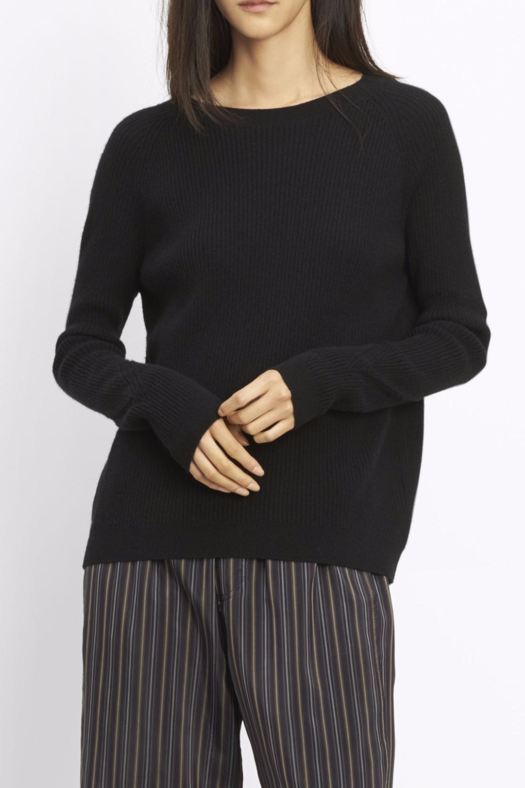Vince Ribbed Raglan Sweater - Main Image