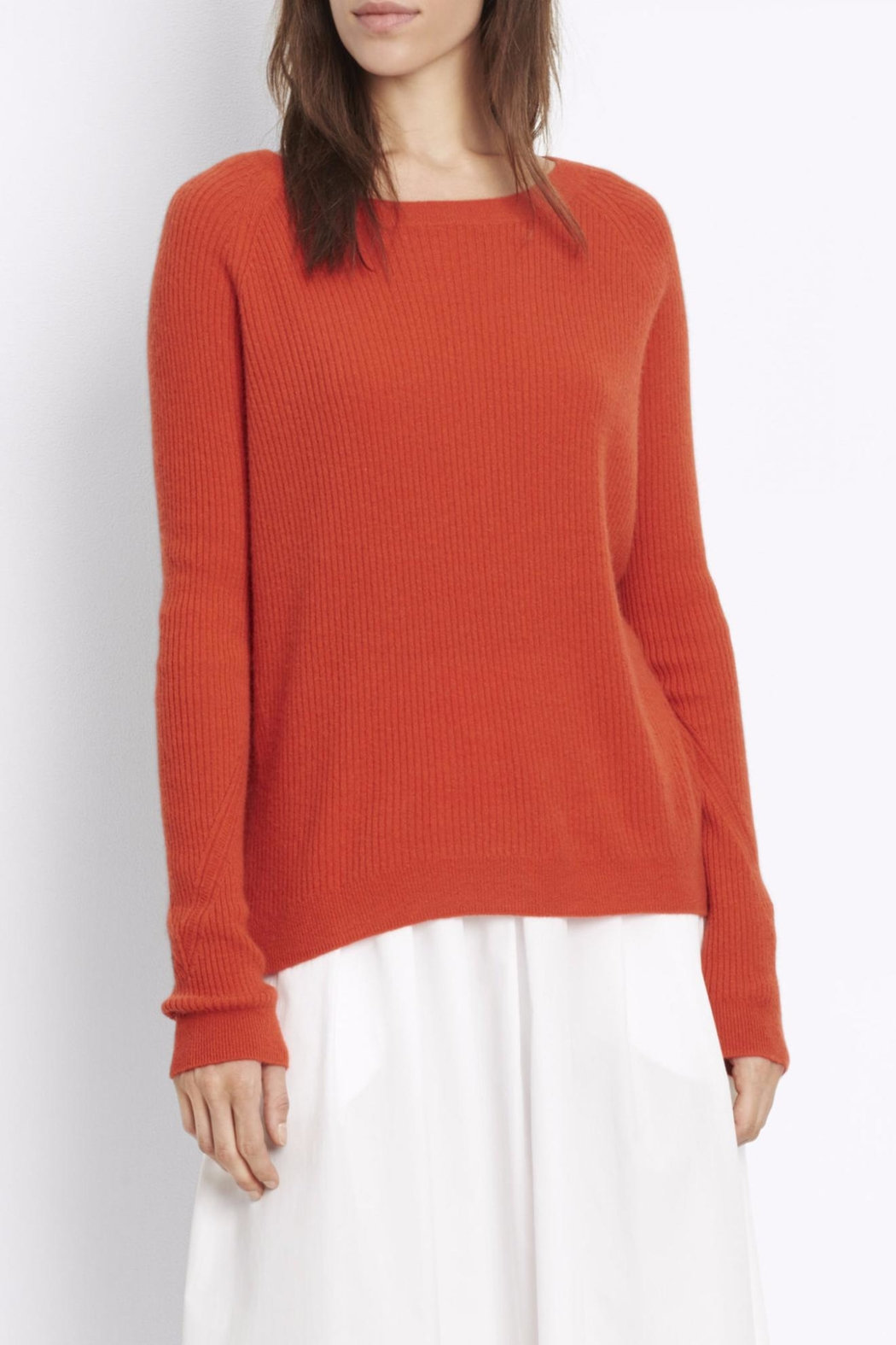 Vince Ribbed Raglan Sweater - Front Cropped Image