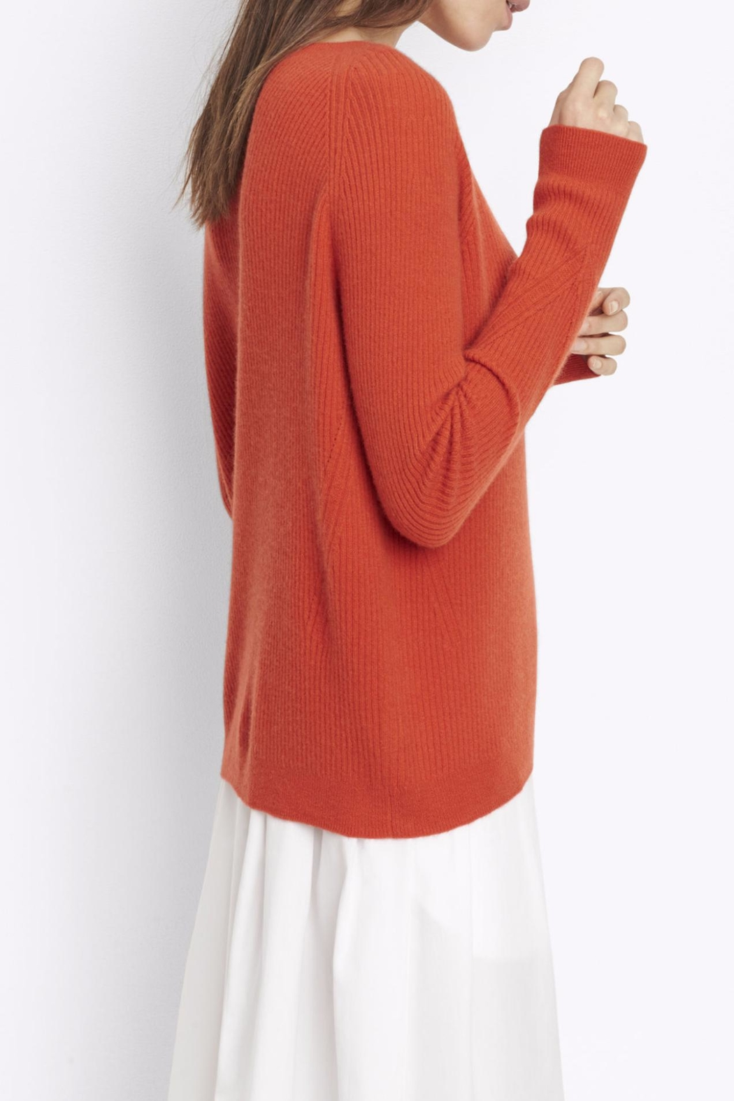 Vince Ribbed Raglan Sweater - Side Cropped Image