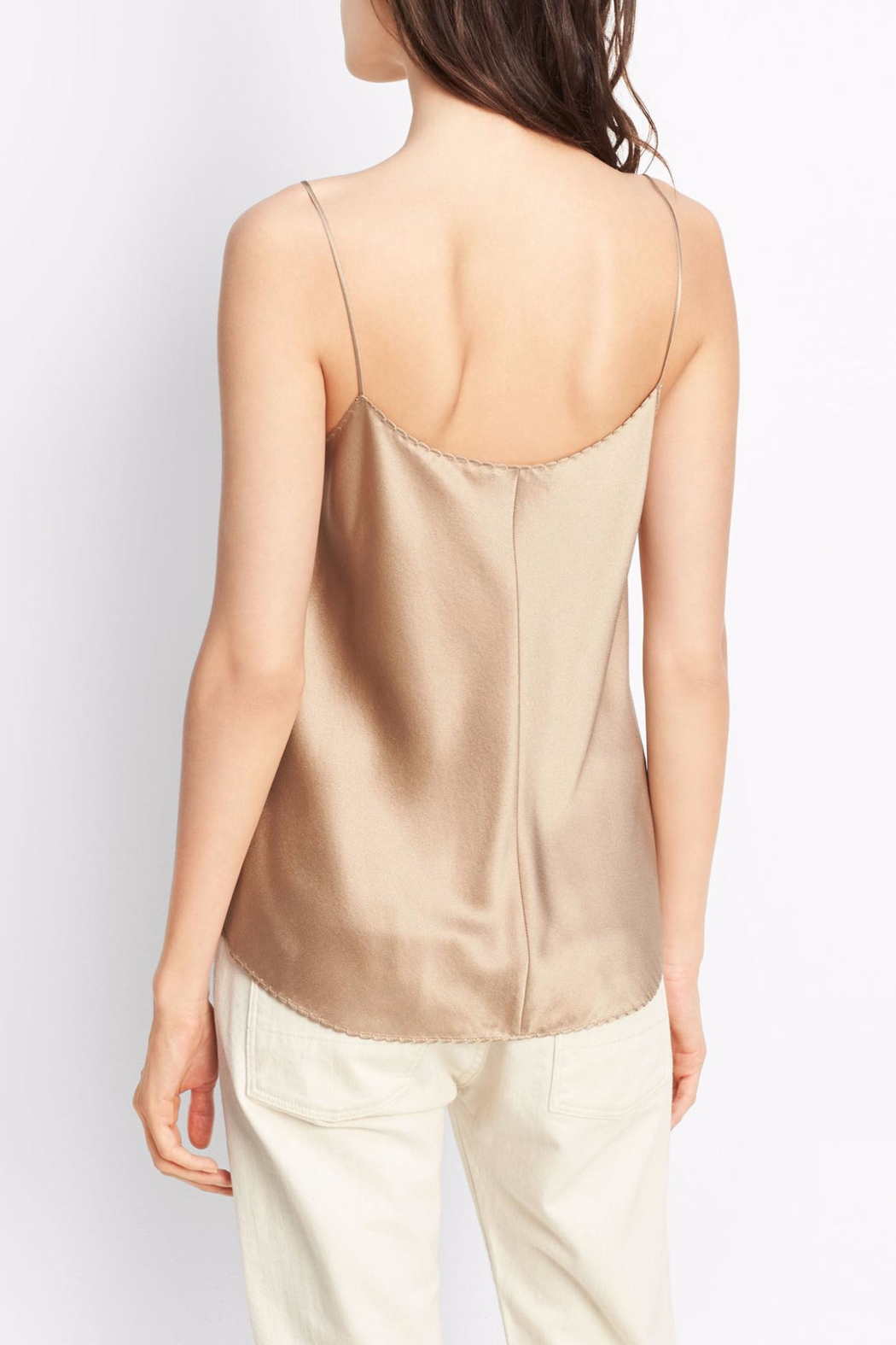 Vince Scallop Silk Tank - Front Full Image