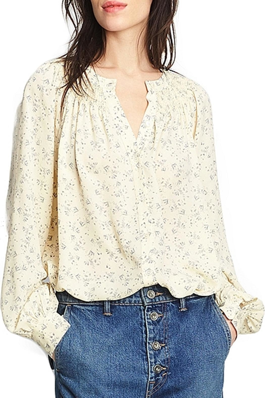 Vince Silk Smocked Blouse - Front Cropped Image