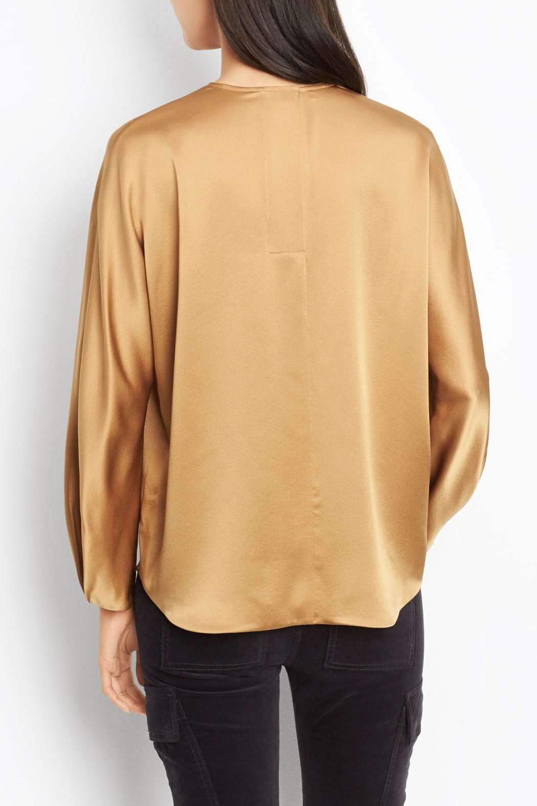 Vince Slit Back Blouse - Side Cropped Image