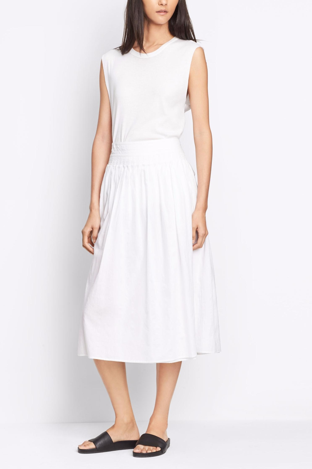Vince Stitch Pleated Skirt - Main Image