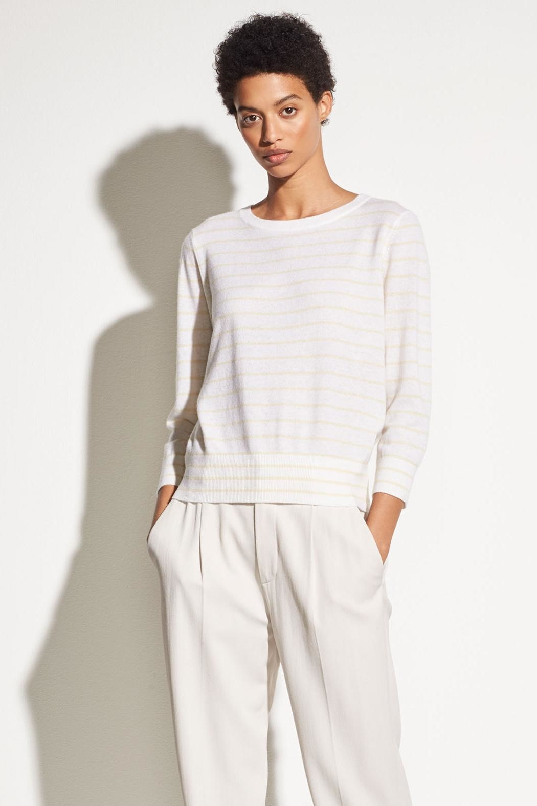 Vince Striped Tie Sweater - Main Image