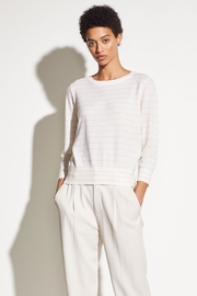 Vince Striped Tie Sweater - Front cropped