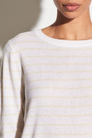 Vince Striped Tie Sweater - Front full body