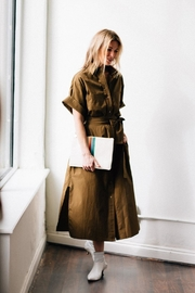 Vince Utility Shirt Dress - Product Mini Image