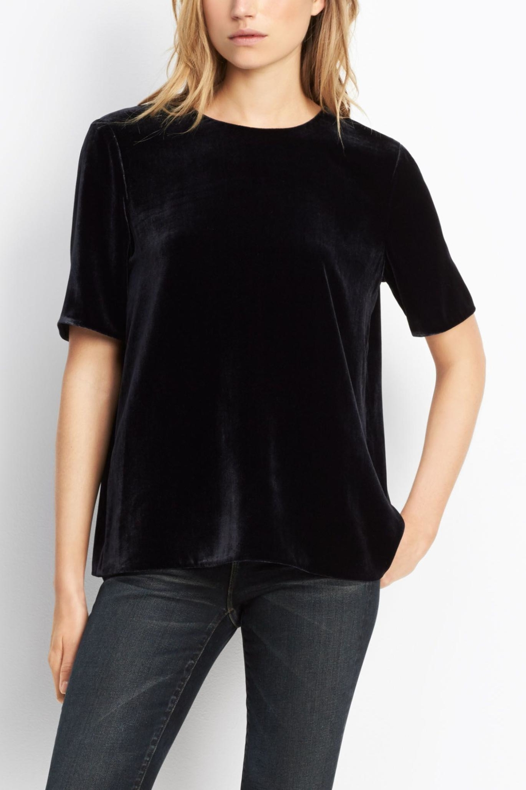Vince Velvet Tee - Front Cropped Image