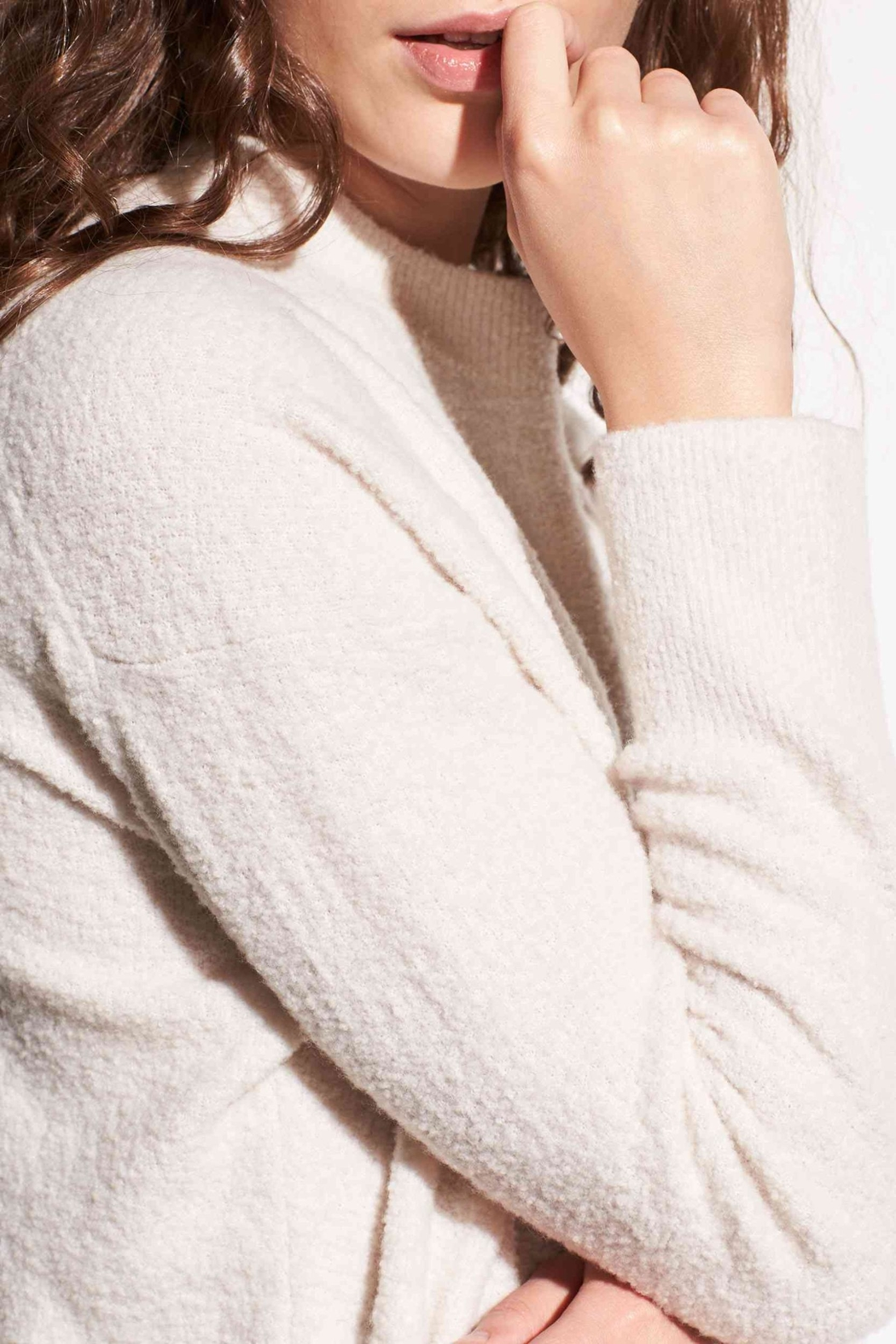 Vince Wool Boucle Pullover - Side Cropped Image