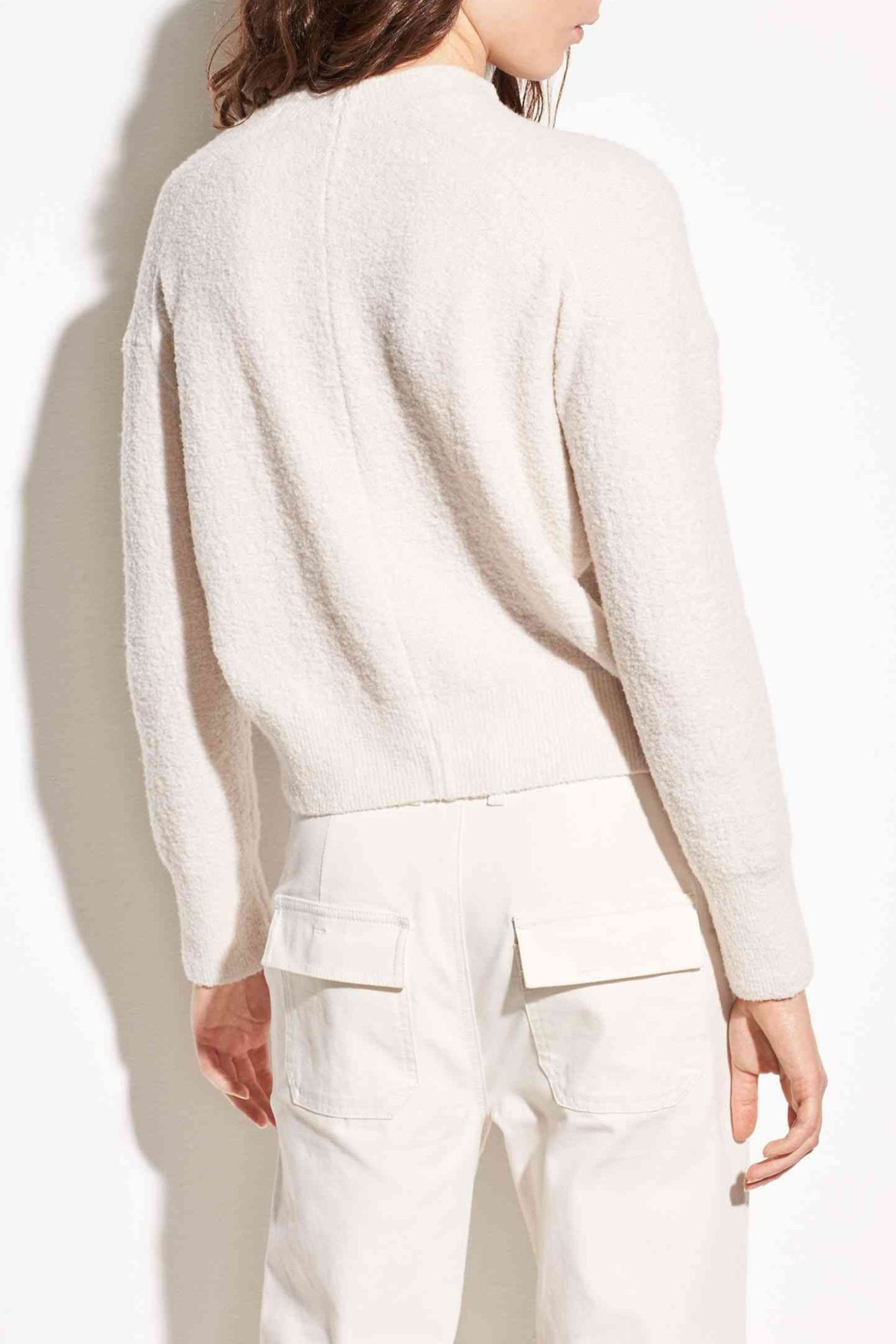 Vince Wool Boucle Pullover - Front Full Image