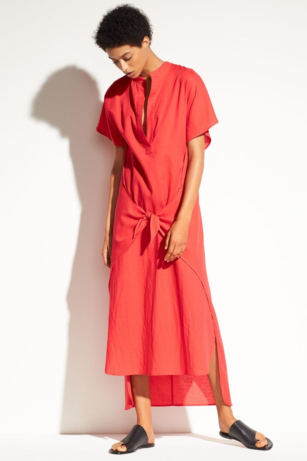 Vince Wrap Front Dress - Front Cropped Image