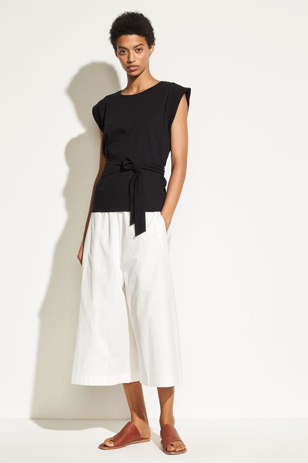 Vince Wrap Waist Top - Front Full Image