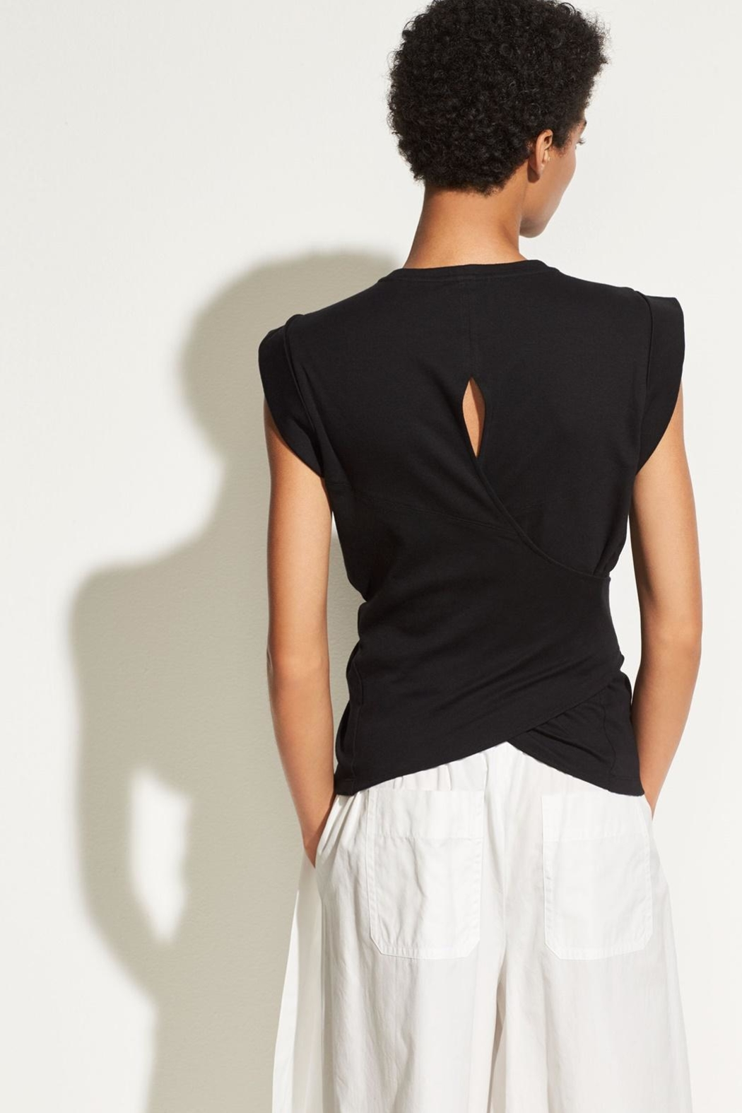 Vince Wrap Waist Top - Side Cropped Image
