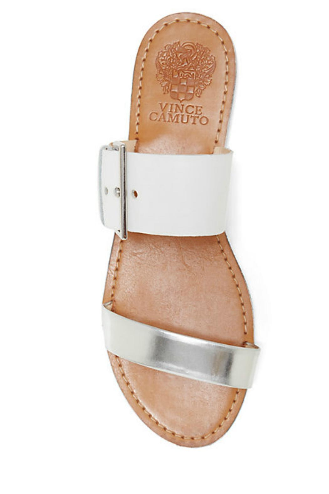 76eba43aa943c8 Vince Camuto Silver White Sandal from Pennsylvania by Well-Heeled ...
