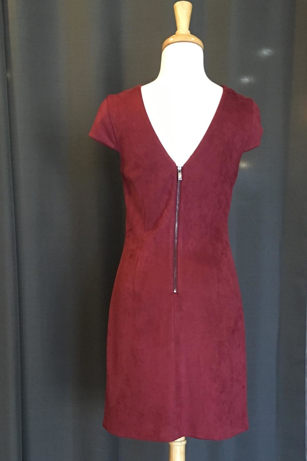Vince Camuto Suede Dress - Front Full Image