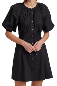 STAUD Vincenza Puff Sleeve Dress - Product List Image