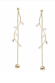 US Jewelry House Vine Chain Drop Earrings - Product Mini Image