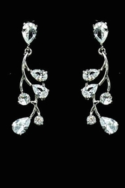 US Jewelry House Vine Pave Earrings - Front cropped