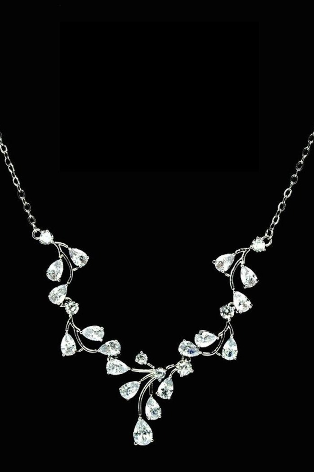 US Jewelry House Vine Pave Necklace - Main Image