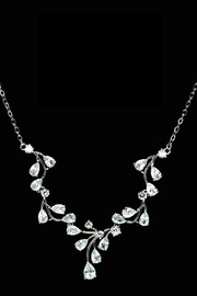 US Jewelry House Vine Pave Necklace - Product Mini Image